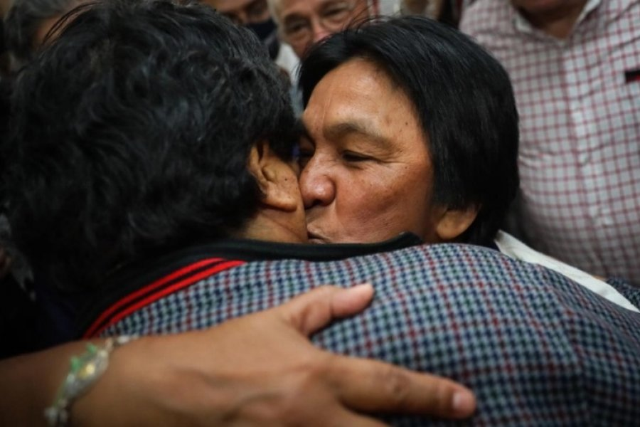 El emotivo encuentro entre Evo Morales y Milagro Sala
