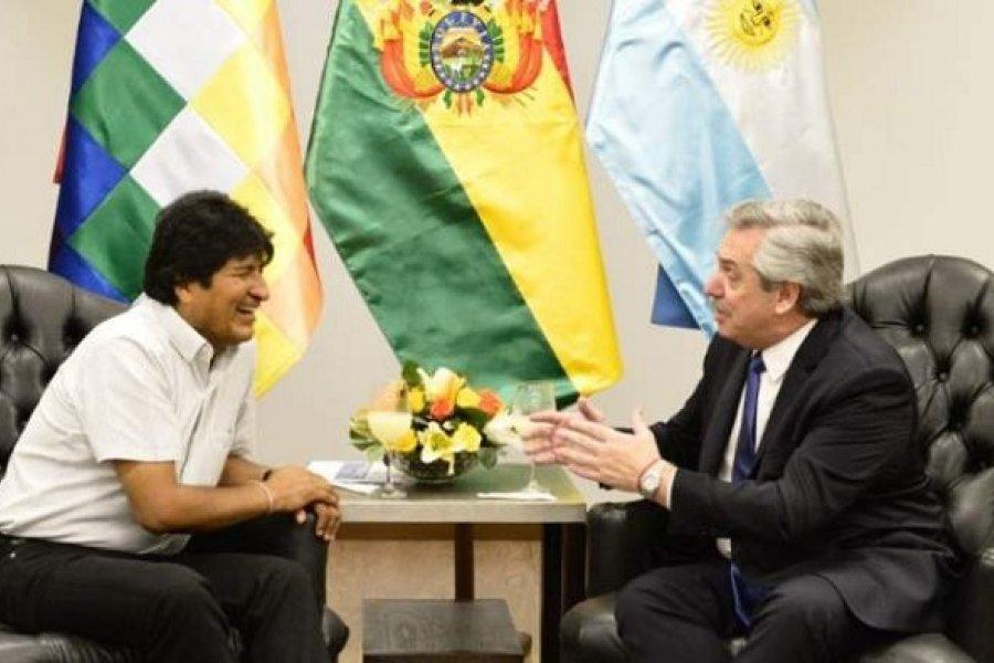 El Presidente despide en La Quiaca a Evo Morales