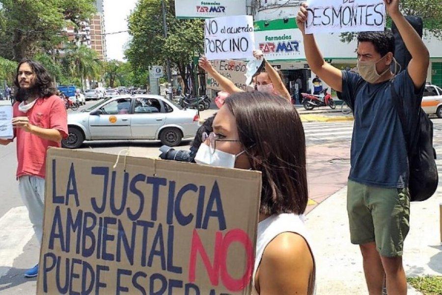 Organizaciones sociales de Chaco y Corrientes se manifestaron en defensa del ambiente