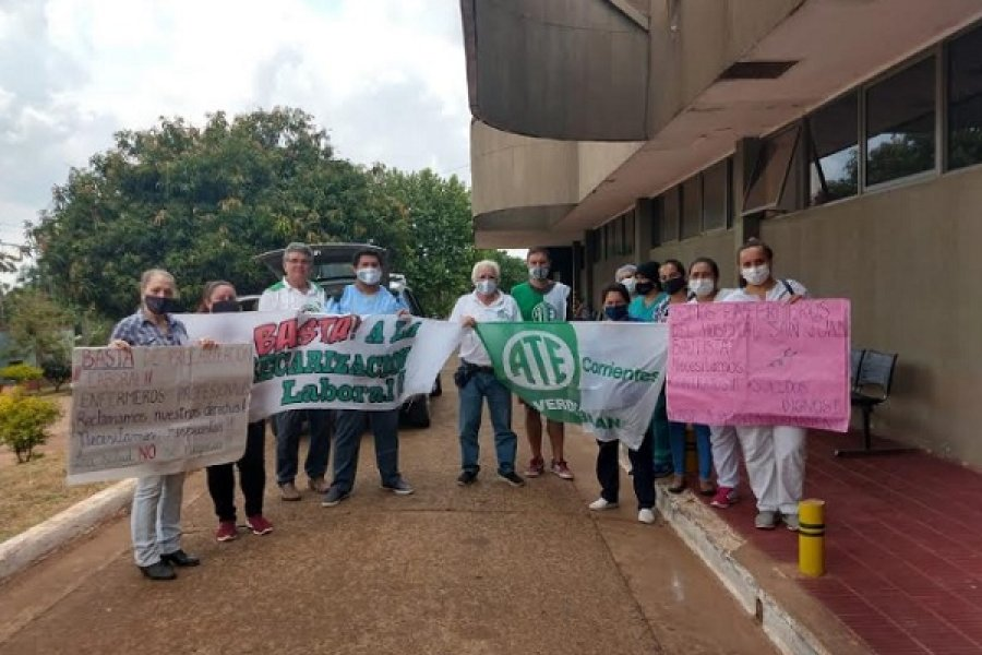 Marcha simultánea de personal sanitario en toda la provincia