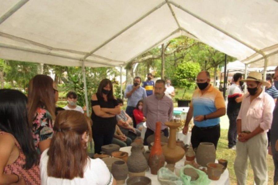 Caá Catí: Presentaron el Plan Estratégico Iberá y entregaron certificados a artesanos