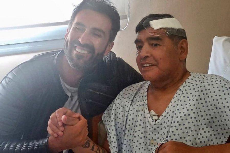 Difundieron la primera imagen de Diego Maradona luego de la operación