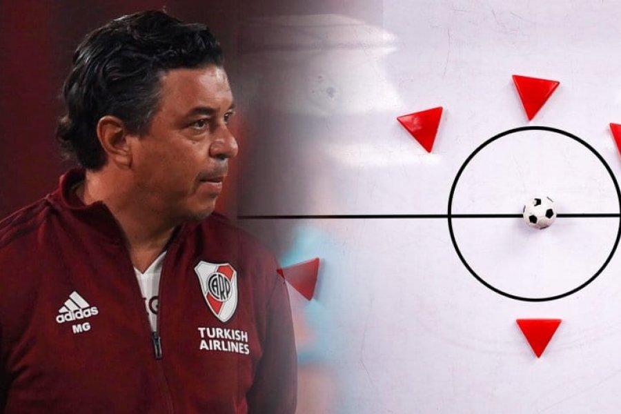 River mueve fichas: Gallardo probó otro esquema además de a Pérez como central