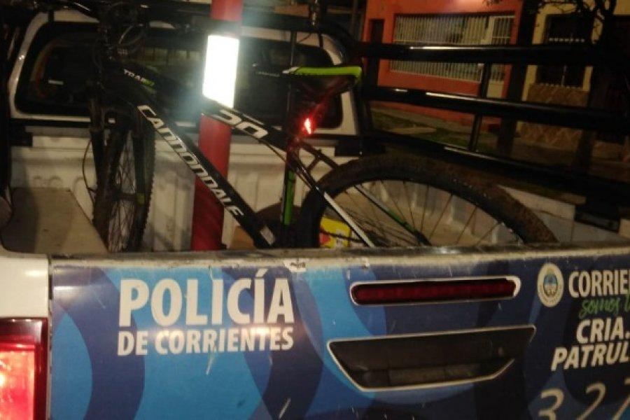 Policías recuperaron una bicicleta y dos amoladoras