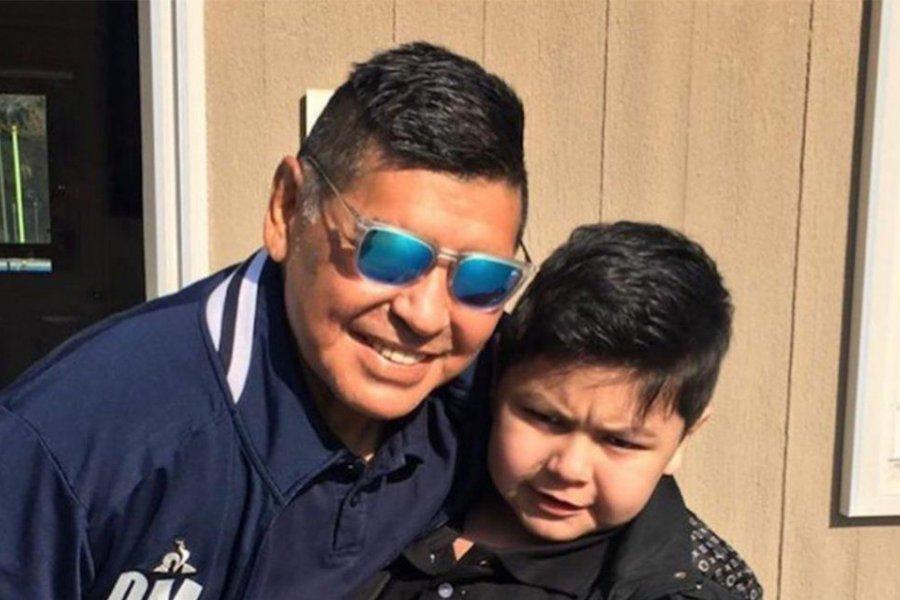 """La foto de Diego Maradona y Dieguito Fernando: """"Te extrañé mucho papá"""""""