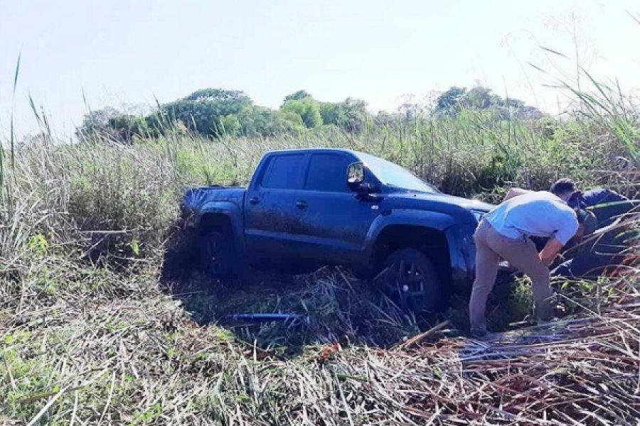 Conductor despistó con su camioneta en la zona de Yacarey