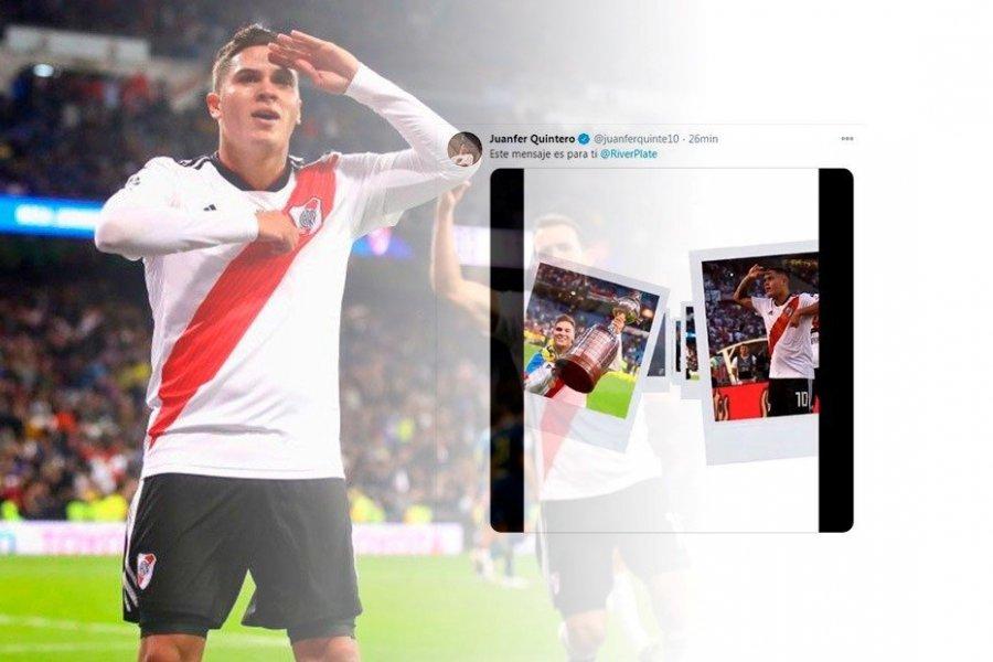 """La emotiva despedida de Juanfer: """"Te amo, River Plate"""""""