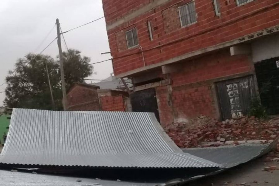 Impactantes imágenes de los destrozos que ocasionó el temporal en Capital