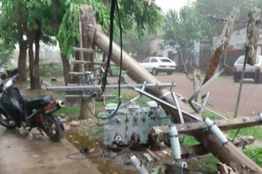 Varias localidades quedaron sin energía eléctrica tras el temporal