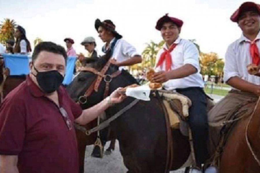 Santa Lucía: Masivo evento popular sin medidas de bioseguridad