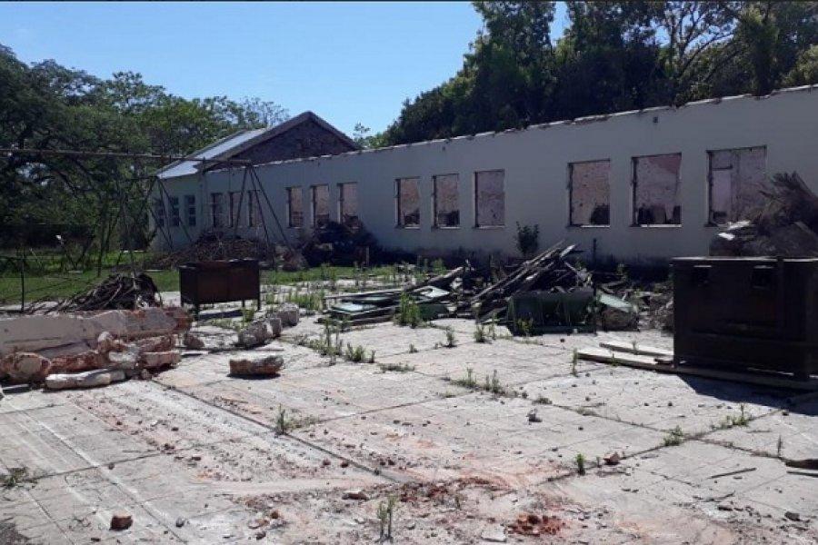 Escuela del Plan Quinquenal de Perón aguarda reconstrucción