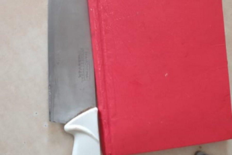 Detuvieron a un hombre que amenazó a su familia con un cuchillo