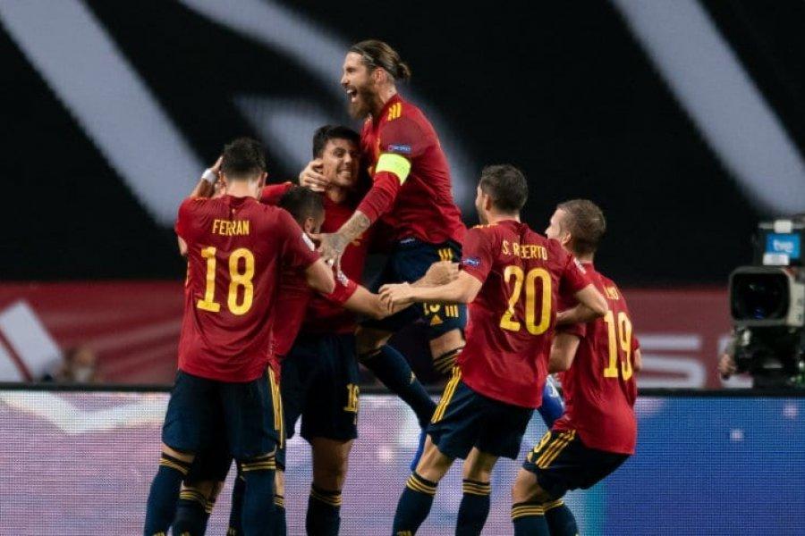 España aplastó por 6-0 a Alemania y se clasificó en la UEFA Nations League