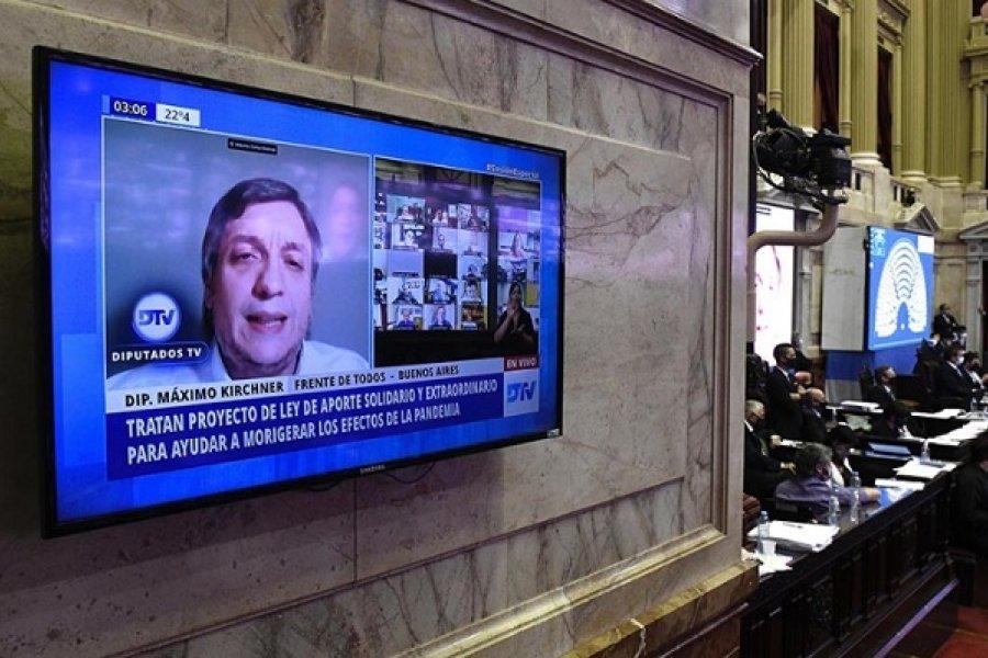 Máximo Kirchner: El Aporte Solidario servirá para conseguir más vacunas