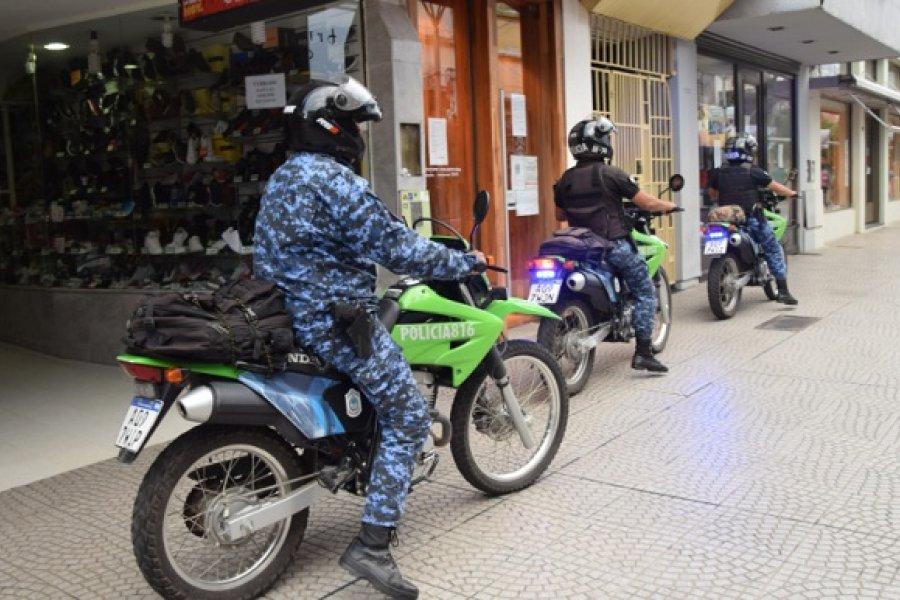 La Policía intensificó controles en zona comercial