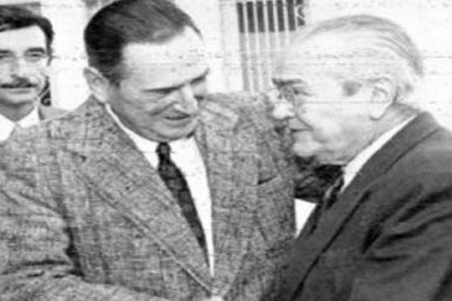 El día que Perón y Balbín enterraron una grieta que duraba treinta años