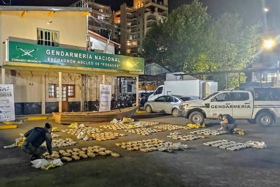 Gendarmes decomisan en Misiones más de 324 kilos de marihuana