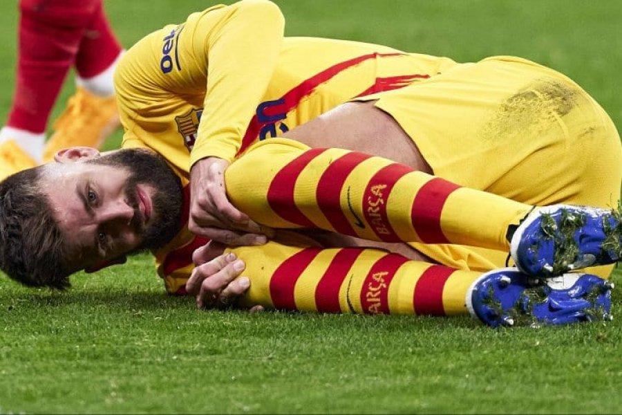Barcelona confirmó la lesión de Piqué, que podría estar cinco meses de baja