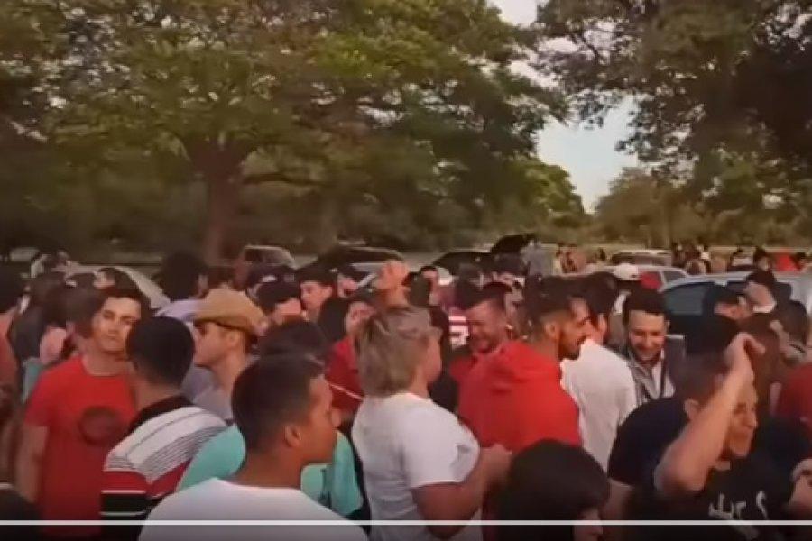 Multitudinaria fiesta en la costanera de Monte Caseros