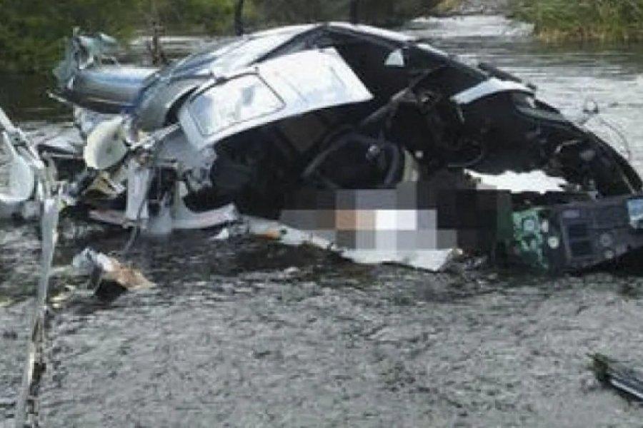 Informe oficial confirmó que el helicóptero de Brito impactó con los cables de una tirolesa