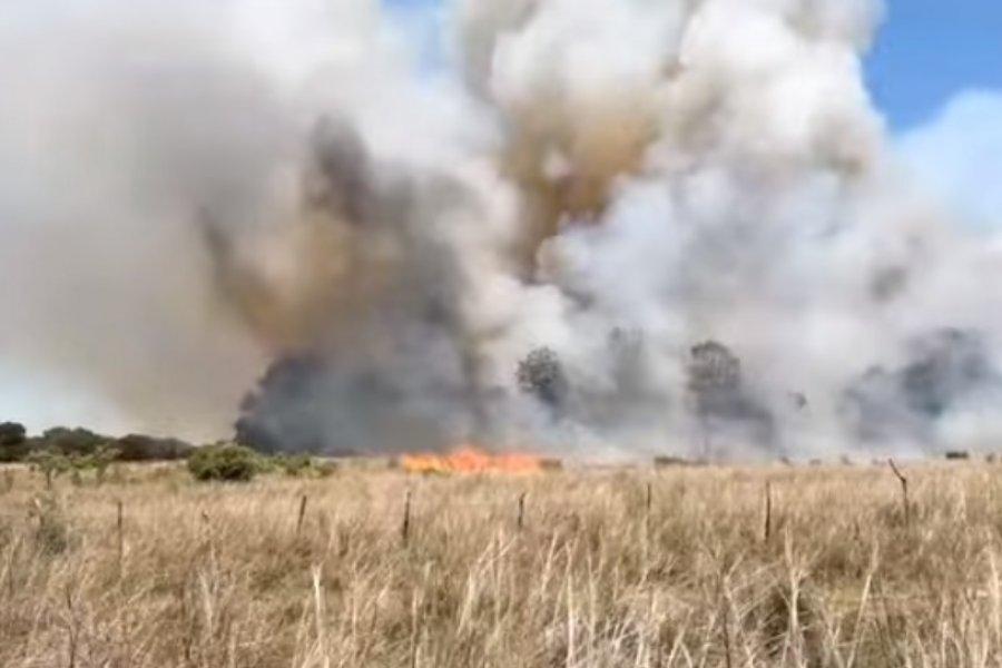 Una zona de Mburucuyá fue azotada por el fuego