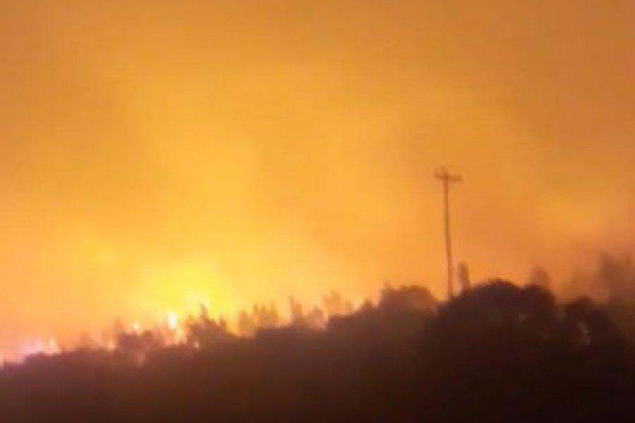Imágenes del impresionante incendio forestal en Virasoro