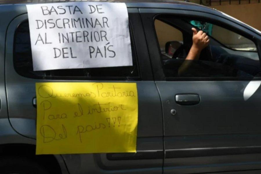 Colectiveros autoconvocados se manifestaron en caravana