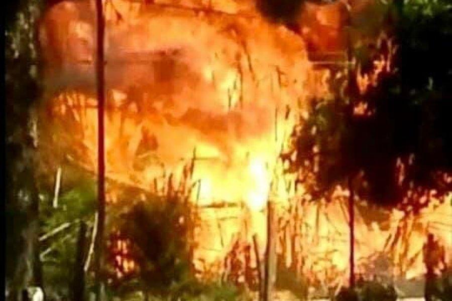 El fuego incontrolable avanza sobre varios sectores en Santa Rosa