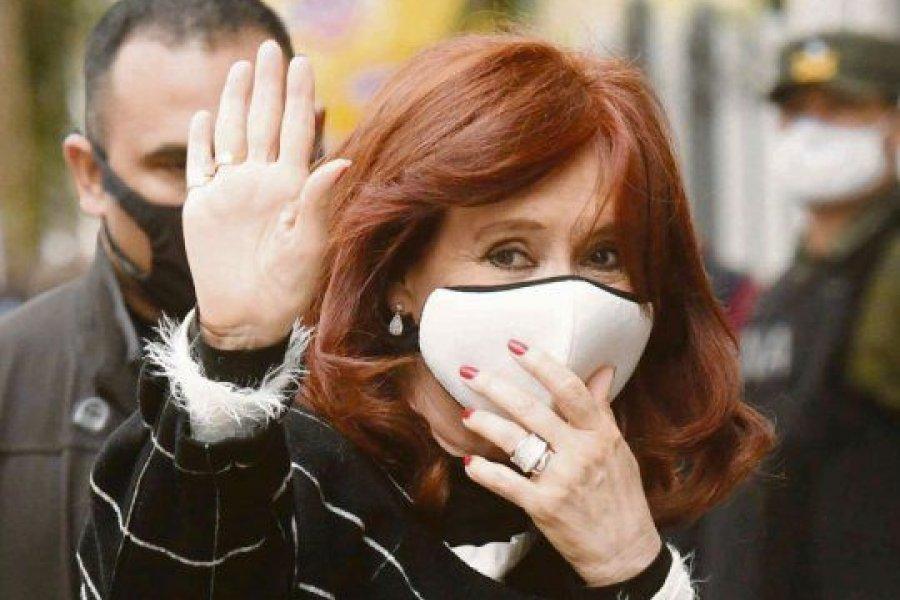 La despedida de Cristina Kirchner a Tabaré Vázquez