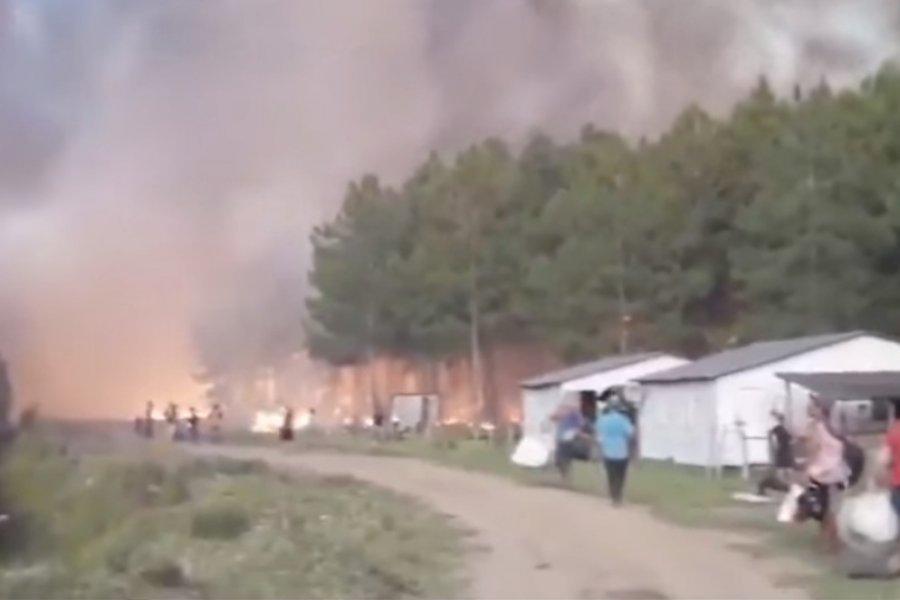 Los Bomberos no pueden contener el avance del fuego en Virasoro