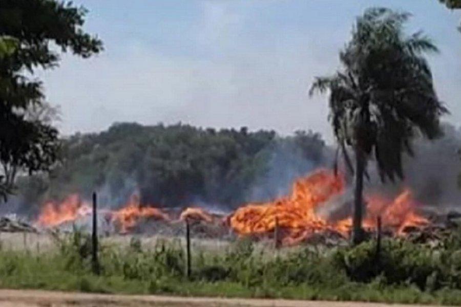Detuvieron al dueño de un aserradero por iniciar una quema que terminó en incendio