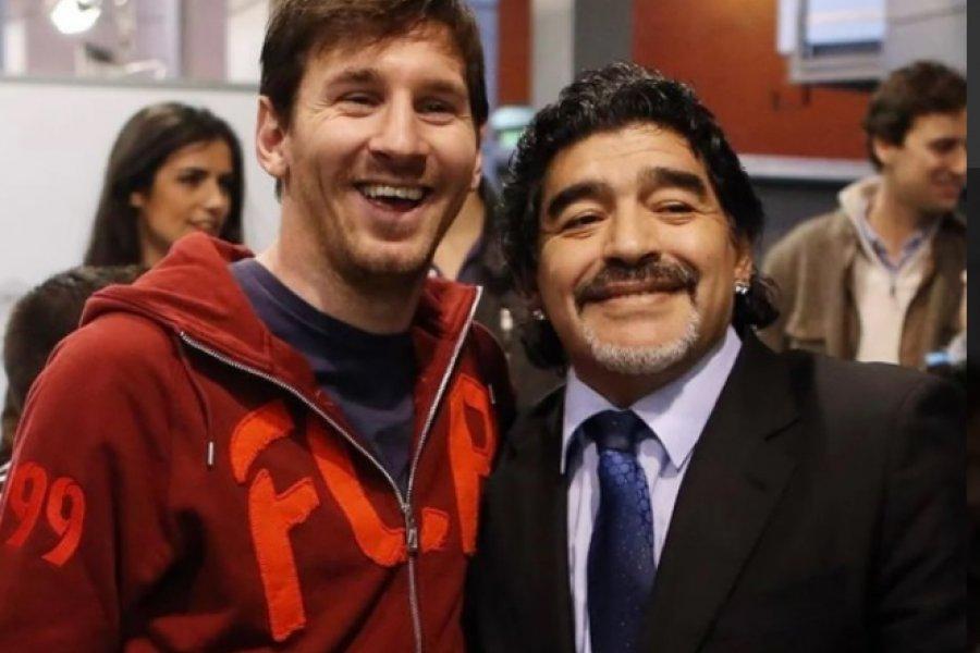 """El mensaje de Messi por la muerte de Maradona: """"Diego es eterno"""""""
