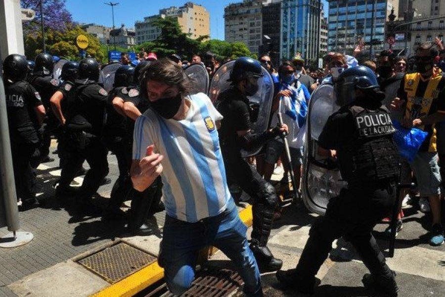 De Pedro exigió a Rodríguez Larreta la represión en inmediaciones de Plaza de Mayo