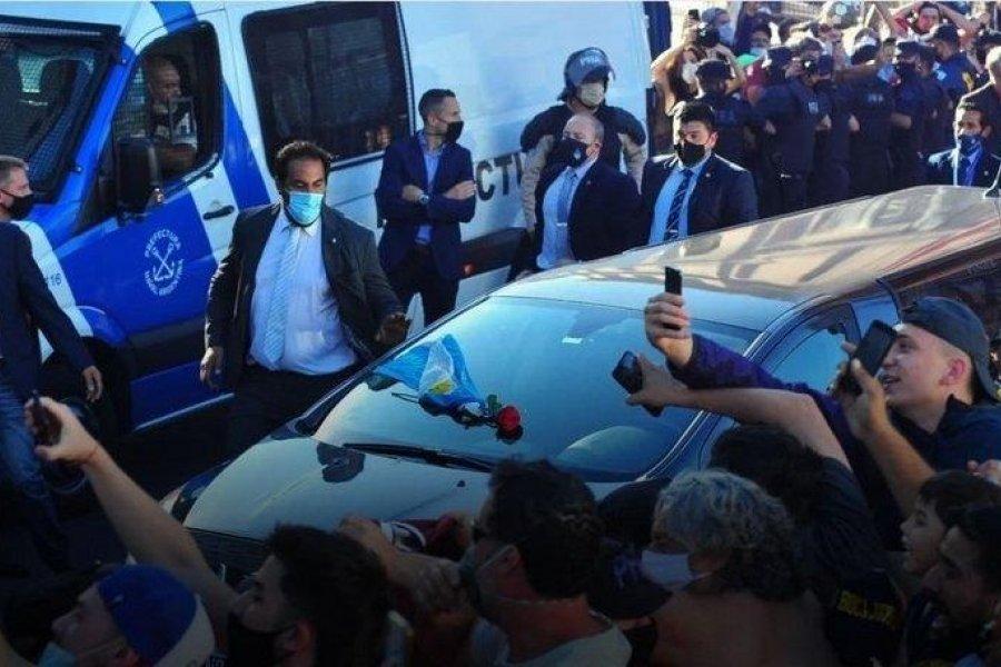 Trasladan el cuerpo de Diego Maradona a Bella Vista