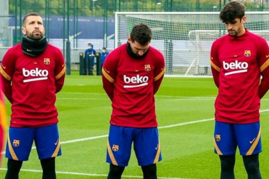 La muerte del 10: Messi, absolutamente conmovido en el entrenamiento del Barsa