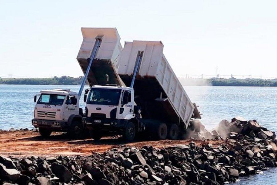 Yacyretá avanza con las obras de protección costera de la isla Apipé Grande