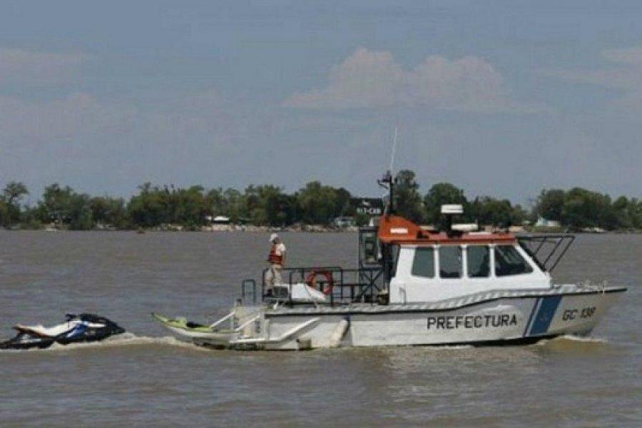 Prefectura busca a un hombre que se arrojó al río Paraná