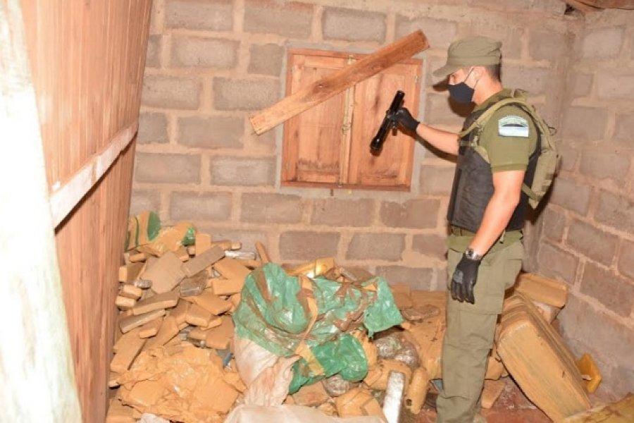 Misiones: Encuentran 600 kilos de marihuana en una vivienda