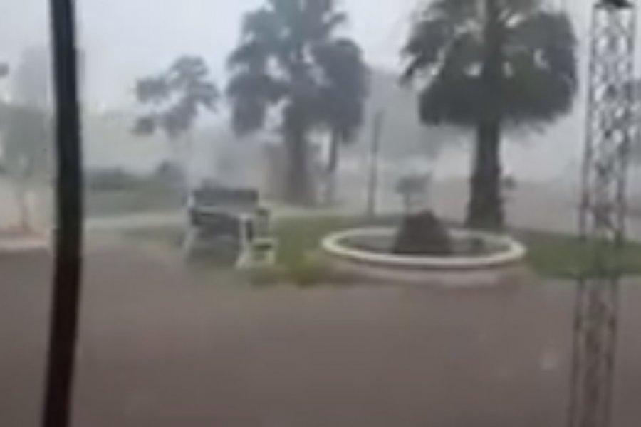 Fuerte temporal causó inundaciones y anegamientos en Monte Caseros