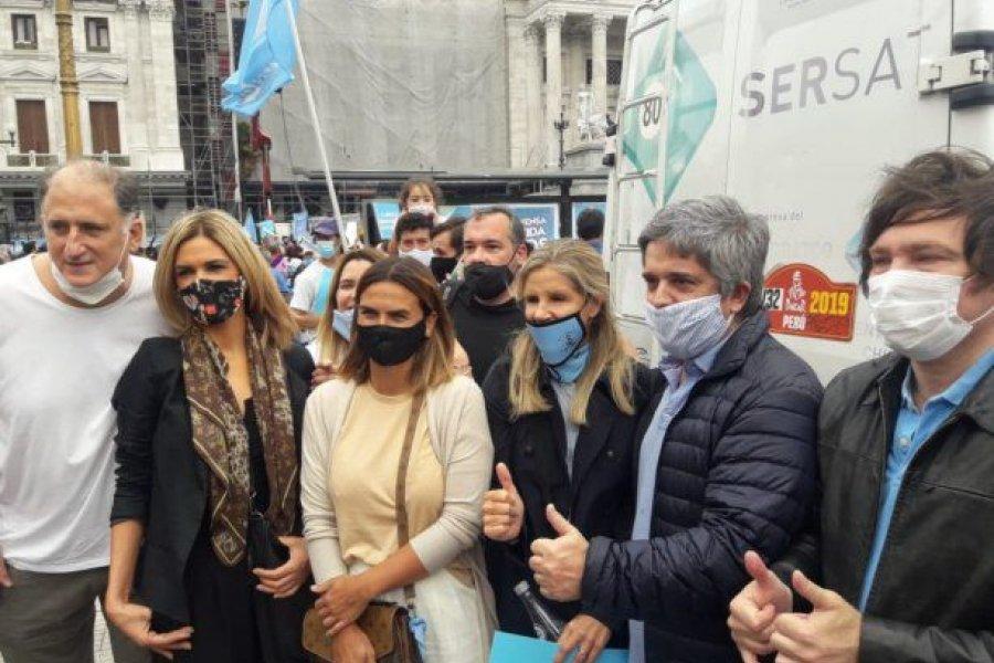 Manifestantes antiaborto se movilizaron contra la legalización