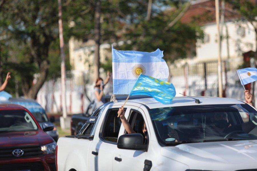 La Costanera fue el epicentro de la Caravana contra el aborto en Corrientes