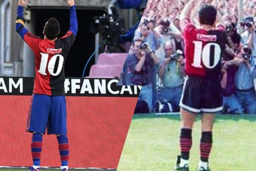 Messi y el mejor homenaje para Maradona: la 10 de Newell's