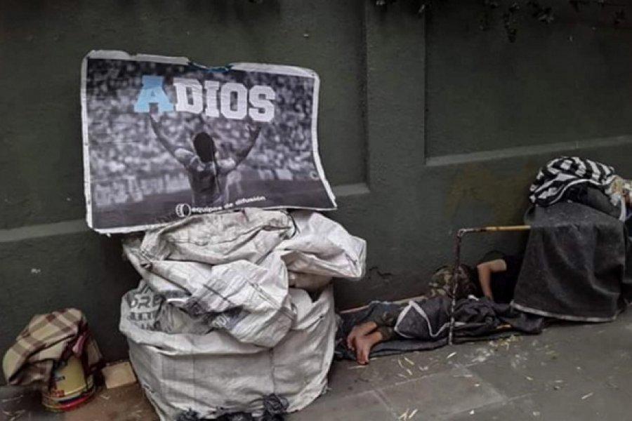 Maradona y un homenaje que destroza el alma