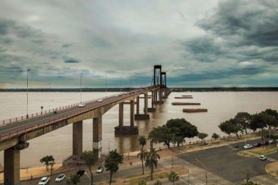 Jornada húmeda con cielo nublado en Corrientes