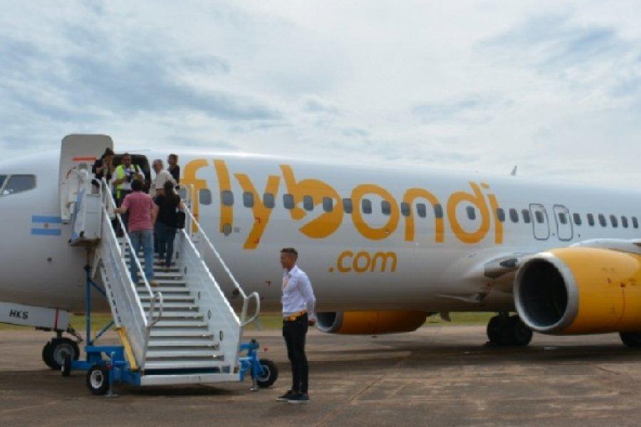 Flybondi retoma sus vuelos a Corrientes desde la semana que viene