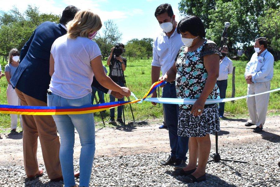 Irigoyen inauguró agua potable para vecinos de Primera Sección Chacra Sur