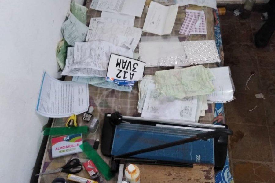 Desbarataron una banda dedicada al robo y falsificación de documentación de motocicletas