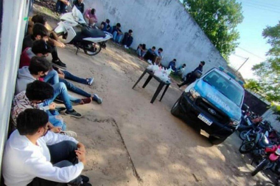 Goya: Desbaratan una fiesta no autorizada