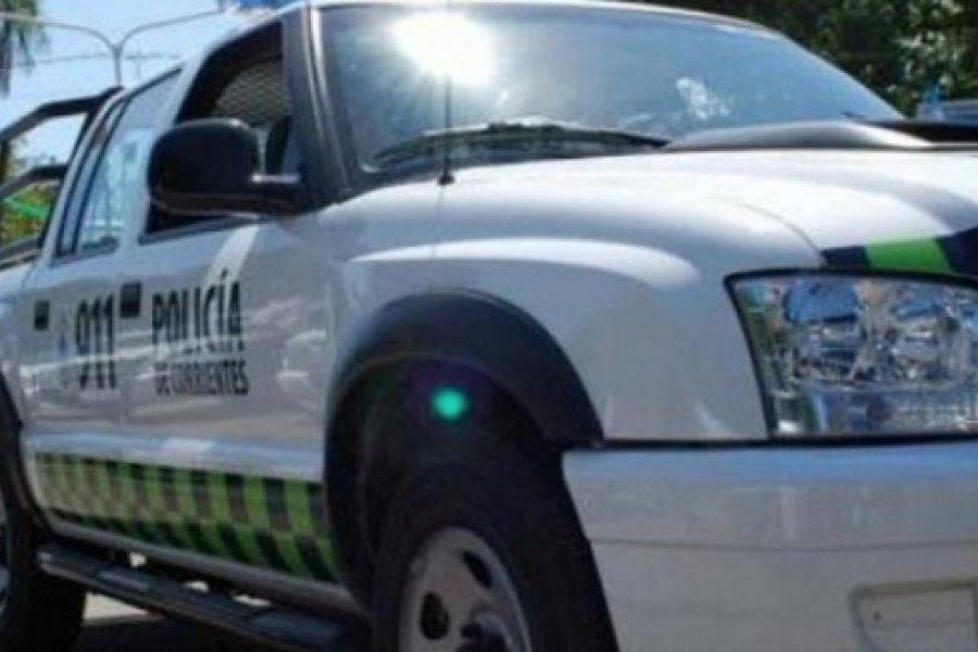 Baleado en asalto fue llevado al hospital en un patrullero