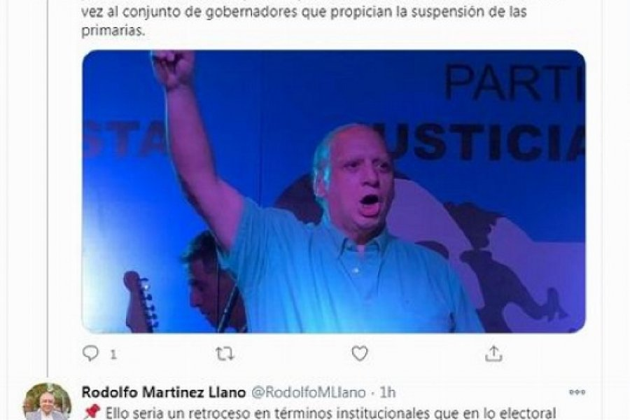 Martínez Llano apuntó contra los que pretenden eliminar las Primarias